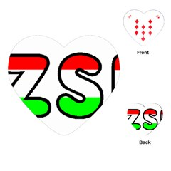 Hungary Flag In Vizsla Name Playing Cards (Heart)