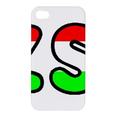 Hungary Flag In Vizsla Name Apple iPhone 4/4S Premium Hardshell Case