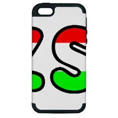 Hungary Flag In Vizsla Name Apple iPhone 5 Hardshell Case (PC+Silicone)