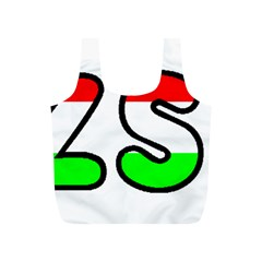 Hungary Flag In Vizsla Name Full Print Recycle Bags (S)