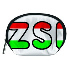 Hungary Flag In Vizsla Name Accessory Pouches (Medium)