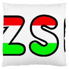 Hungary Flag In Vizsla Name Standard Flano Cushion Case (One Side)