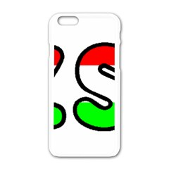 Hungary Flag In Vizsla Name Apple iPhone 6/6S White Enamel Case