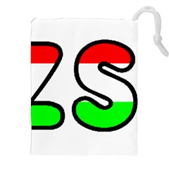 Hungary Flag In Vizsla Name Drawstring Pouches (XXL)