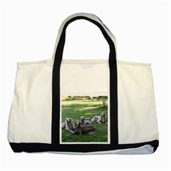 Longhair Weims Two Tone Tote Bag