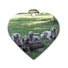 Longhair Weims Dog Tag Heart (One Side)