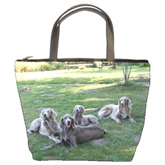 Longhair Weims Bucket Bags