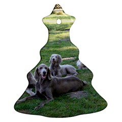 Longhair Weims Christmas Tree Ornament (Two Sides)