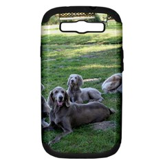 Longhair Weims Samsung Galaxy S III Hardshell Case (PC+Silicone)