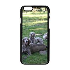 Longhair Weims Apple iPhone 6/6S Black Enamel Case