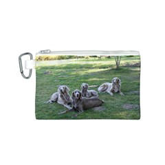 Longhair Weims Canvas Cosmetic Bag (S)