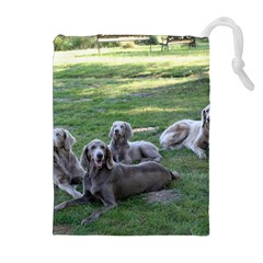 Longhair Weims Drawstring Pouches (Extra Large)