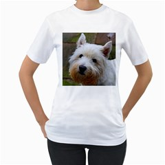 West Highland White Terrier Women s T-Shirt (White) (Two Sided)