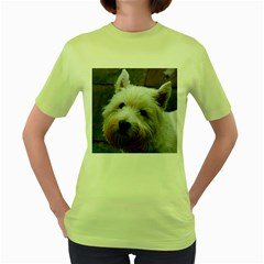 West Highland White Terrier Women s Green T-Shirt