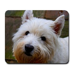 West Highland White Terrier Large Mousepads