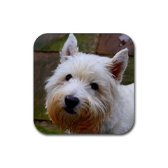 West Highland White Terrier Rubber Square Coaster (4 pack)