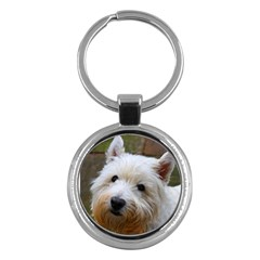 West Highland White Terrier Key Chains (Round)