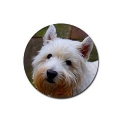 West Highland White Terrier Rubber Coaster (Round)