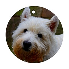 West Highland White Terrier Round Ornament (Two Sides)