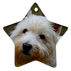 West Highland White Terrier Star Ornament (Two Sides)