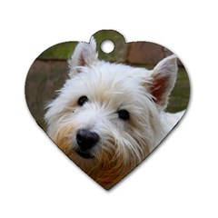 West Highland White Terrier Dog Tag Heart (One Side)
