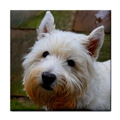 West Highland White Terrier Face Towel