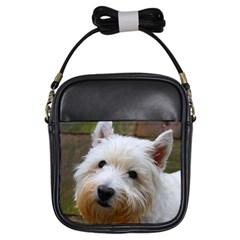 West Highland White Terrier Girls Sling Bags