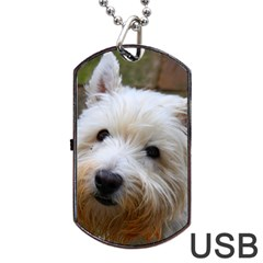 West Highland White Terrier Dog Tag USB Flash (One Side)