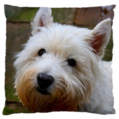 West Highland White Terrier Large Cushion Case (Two Sides)