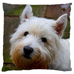 West Highland White Terrier Standard Flano Cushion Case (Two Sides)