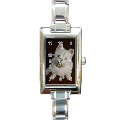 West highland white terrier puppy Rectangle Italian Charm Watch