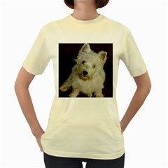 West highland white terrier puppy Women s Yellow T-Shirt