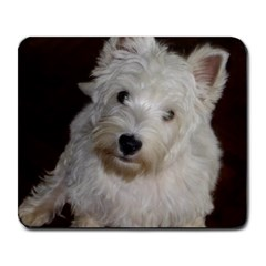 West highland white terrier puppy Large Mousepads