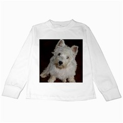 West highland white terrier puppy Kids Long Sleeve T-Shirts
