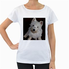 West highland white terrier puppy Women s Loose-Fit T-Shirt (White)