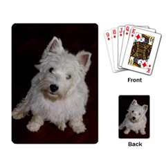 West highland white terrier puppy Playing Card