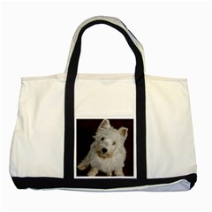West highland white terrier puppy Two Tone Tote Bag