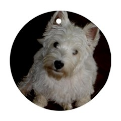 West highland white terrier puppy Round Ornament (Two Sides)