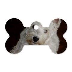 West highland white terrier puppy Dog Tag Bone (Two Sides)
