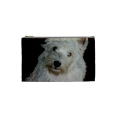 West highland white terrier puppy Cosmetic Bag (Small)