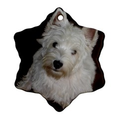 West highland white terrier puppy Ornament (Snowflake)