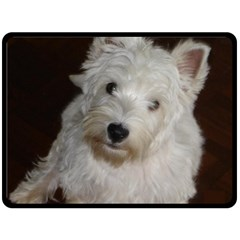 West highland white terrier puppy Double Sided Fleece Blanket (Large)
