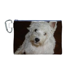 West highland white terrier puppy Canvas Cosmetic Bag (M)