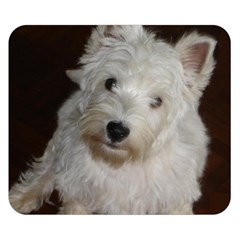 West highland white terrier puppy Double Sided Flano Blanket (Small)