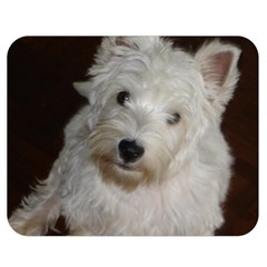 West highland white terrier puppy Double Sided Flano Blanket (Medium)
