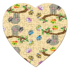 Sloth Tan Bg Jigsaw Puzzle (Heart)