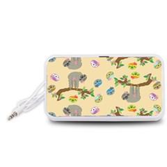Sloth Tan Bg Portable Speaker (White)