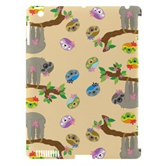 Sloth Tan Bg Apple iPad 3/4 Hardshell Case (Compatible with Smart Cover)