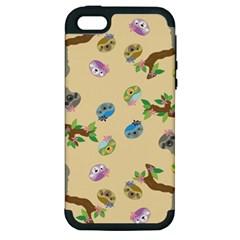Sloth Tan Bg Apple iPhone 5 Hardshell Case (PC+Silicone)