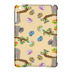 Sloth Tan Bg Apple iPad Mini Hardshell Case (Compatible with Smart Cover)